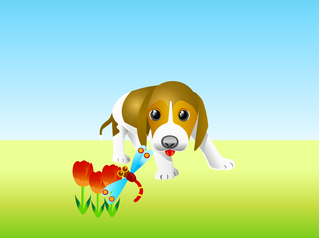 FreeVector-Curious-Puppy