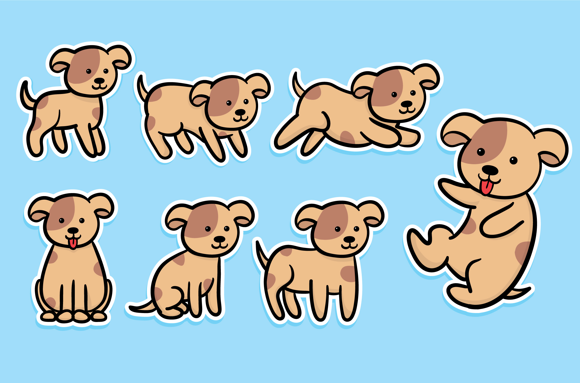 Cat and dog stickers-02