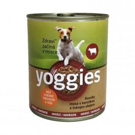 Yoggies hovězí konzerva s karotkou a lněným olejem 800 g