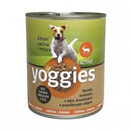 Yoggies Active zvěřinová konzerva s dýní a pupálkovým olejem