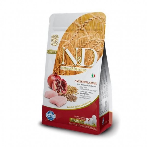 N&D Low Grain Dog Puppy Starter Chicken & Pom. 0,8 kg