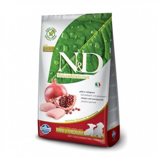 N&D Grain Free Dog Puppy S/M Chicken & Pom. 2,5 kg