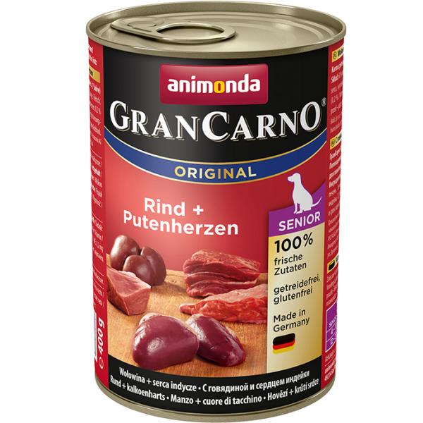 Animonda GRANCARNO konz. SENIOR kuře/krůt srdce 800g