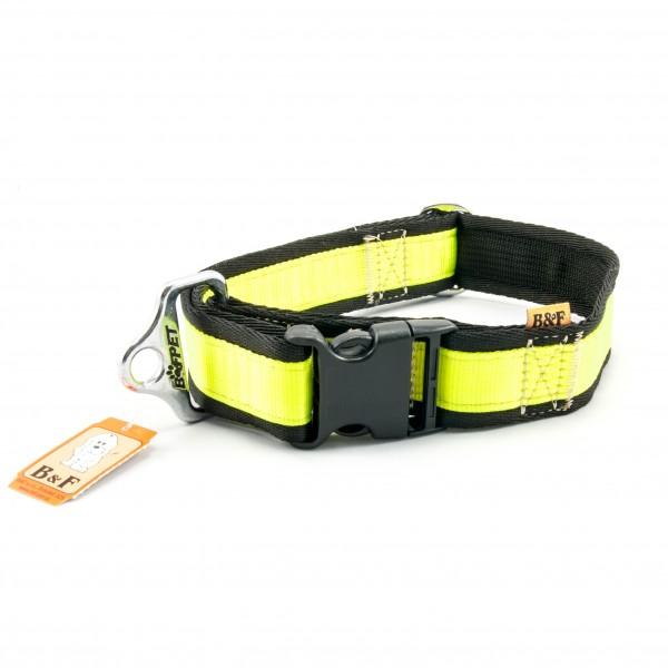 Obojek nylon žluto/černý B&F 4,00 - 43-74 cm