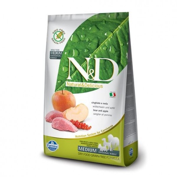 N&D Grain Free DOG Adult Boar & Apple 2,5kg