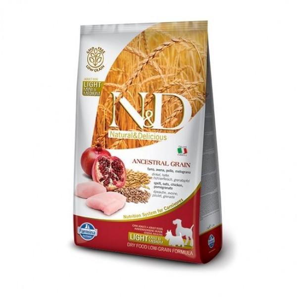 N&D Low Grain Dog Adult Light S/M Chicken & Pom. 2,5 kg