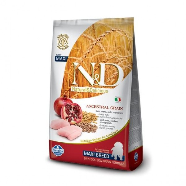 N&D Low Grain Dog Puppy Maxi Chicken & Pom. 12 kg