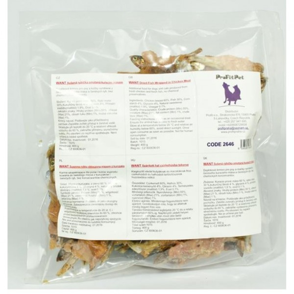 Want pamlsek - rybička s kuřecím masem 400 g