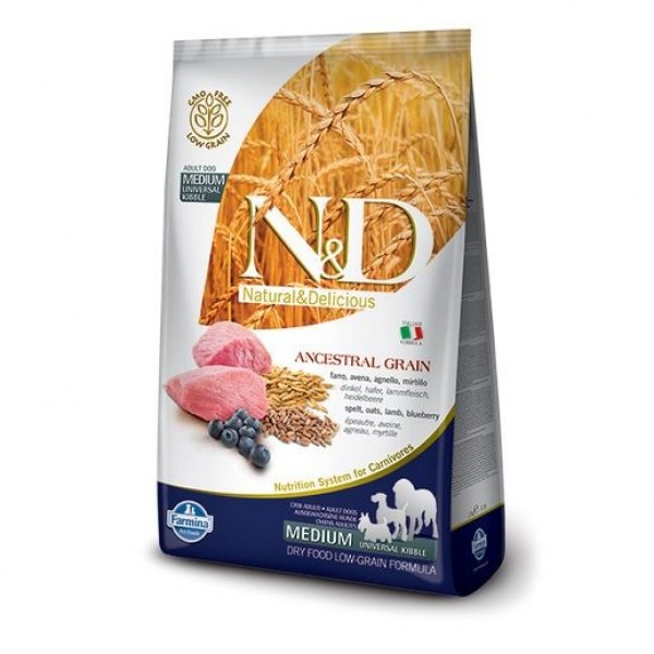 N&D Low Grain Dog Adult Lamb & Blueberry 12 kg