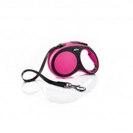 Vodítko flexi Comfort L pásek 5m/60kg růžová