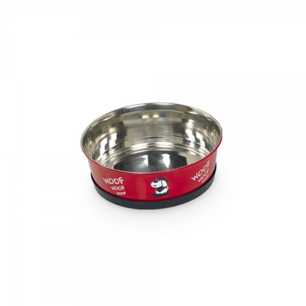 Miska nerez Woof červená Nobby 500 ml / 13 cm