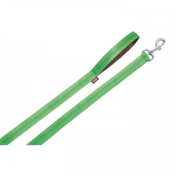 Vodítko nylon soft Grip - sv. zelené Nobby 1,5 x 120 cm