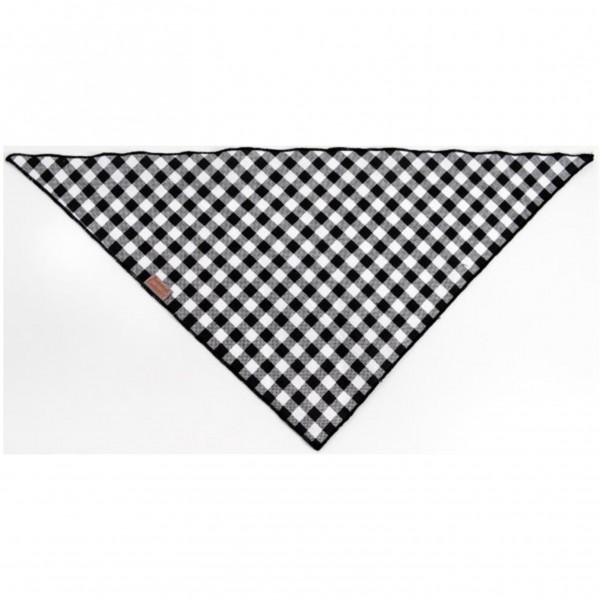 """Šátek bavlna""""Falco"""" zavazovací černo-bílý káro vel. L"""