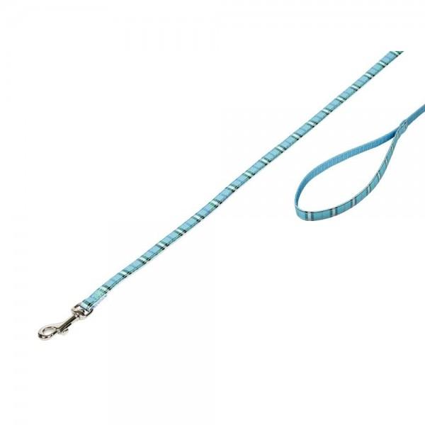 Vodítko nylon Tartan - světle modré Nobby 1,0 x 120 cm