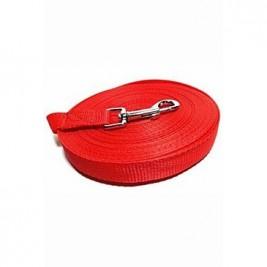 Vodítko DINOFASHION stopovací ploché červené 20m/2cm