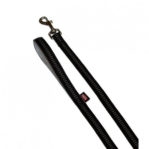 Vodítko nylon Soft Grip - černé Nobby 2,00 x 120 cm