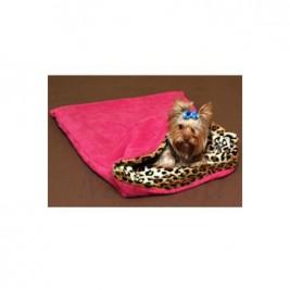 Spací pytel 3v1 pes,kočka č.34 tm.růžová/leopard