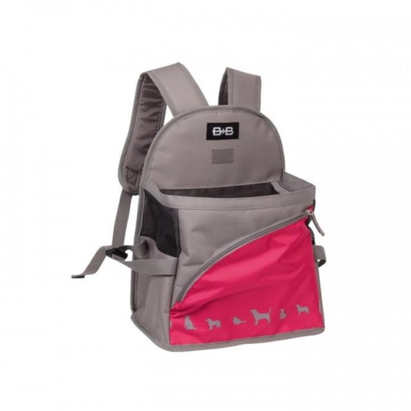 "Transp. Batoh nylon ""Kaiman"" - růžový Nobby 29 x 19 x 25 /37 cm"