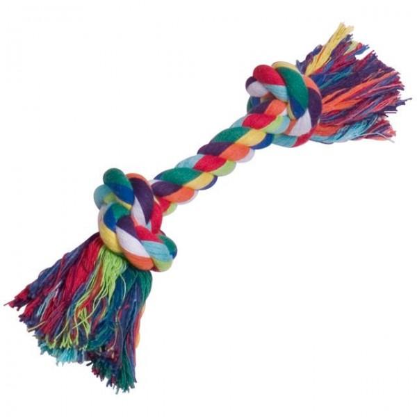 Barevné bavlněné lano se dvěma uzly 180 g