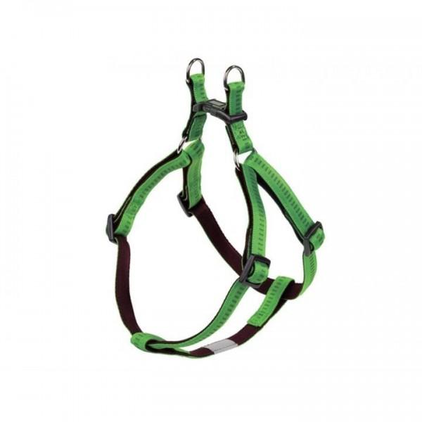 Postroj nylon soft Grip - sv. zelený Nobby 2,5 x 60-86 cm