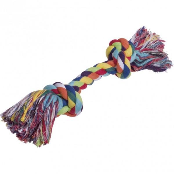 Barevné bavlněné lano se dvěma uzly 390 g