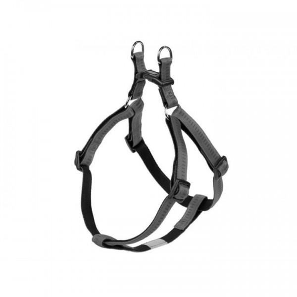 Postroj nylon soft Grip - šedý Nobby 2,5 x 60-86 cm