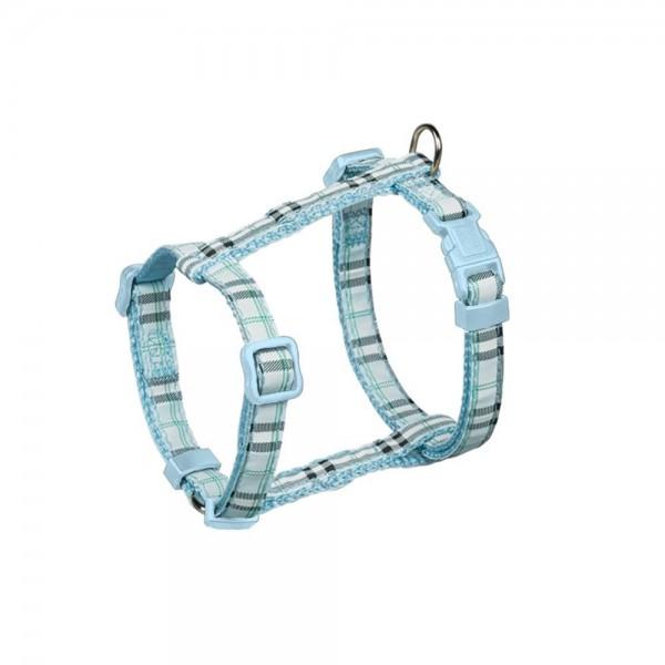 Postroj nylon Tartan - světle modrý Nobby 1,0 x 20-35 cm