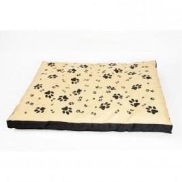 Matrace nylon Sucharda béžovo/černá tlapka 120 x 100 x 10 cm