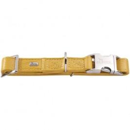 Obojek kůže CAPRI ALU-STRONG žlutá L 2,5x45-65cm Hunter