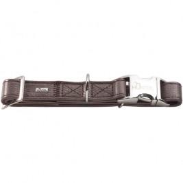 Obojek kůže CAPRI ALU-STRONG hnědý L 2,5x45-65cm Hunter