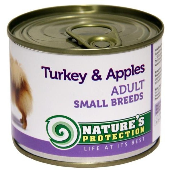 NP Dog konzerva Adult Small Breeds Turkey&Apples 200 g