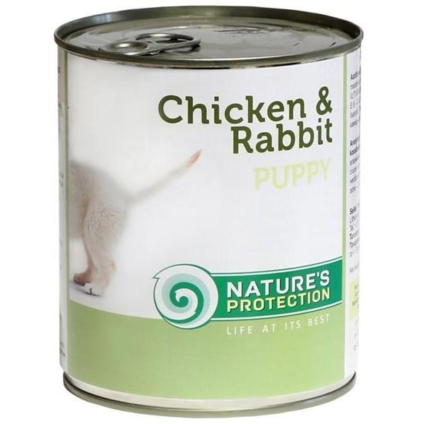 NP Dog konzerva Puppy Chicken&Rabbit 200 g