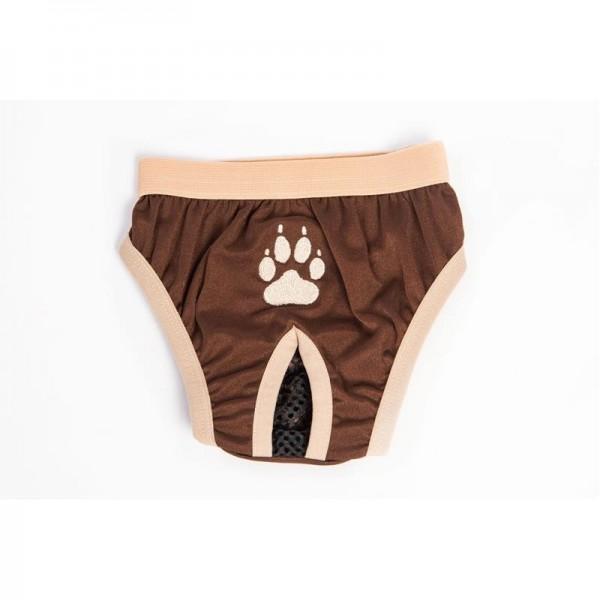 """Hárací kalhotky """"Gina"""" hnědé s tlapkou 24 cm"""