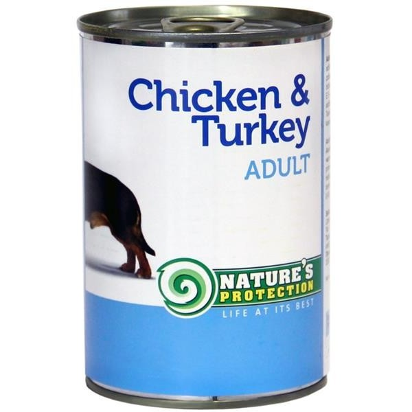 NP Dog konzerva Adult Chicken&Turkey 400 g