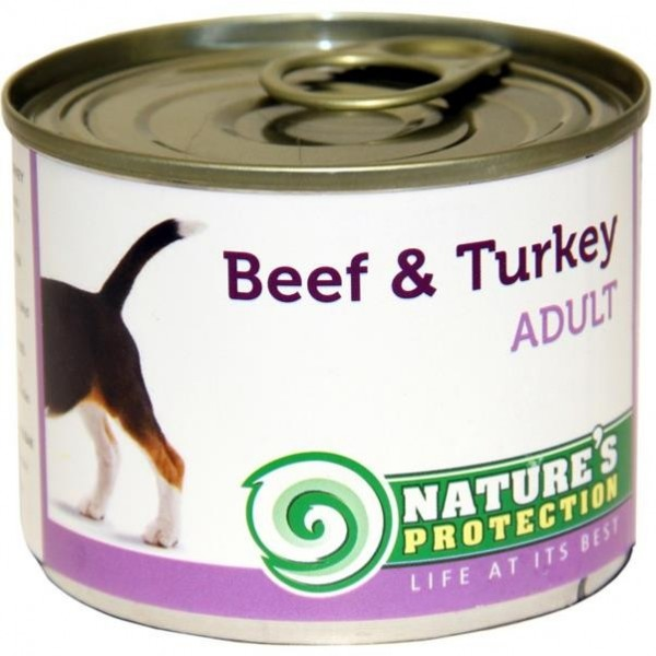 NP Dog konzerva Adult Beef&Turkey 200 g