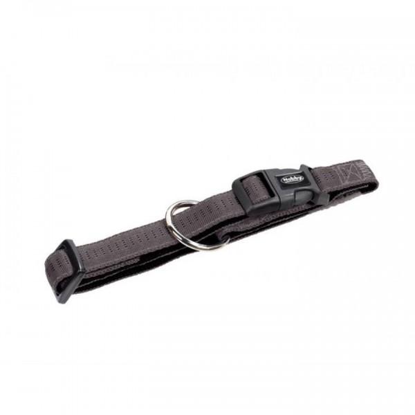 Obojek nylon soft Grip - šedý Nobby 2,5 x 50-65 cm