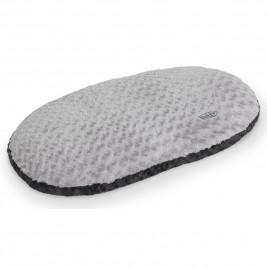 Nobby Seoli měkký plyšový polštář šedý 63x40cm