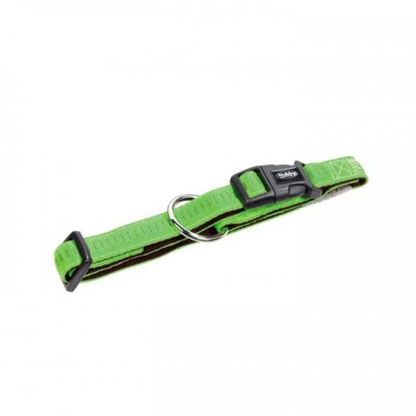 Obojek nylon soft Grip - sv. zelený Nobby 1,5 x 25-35 cm