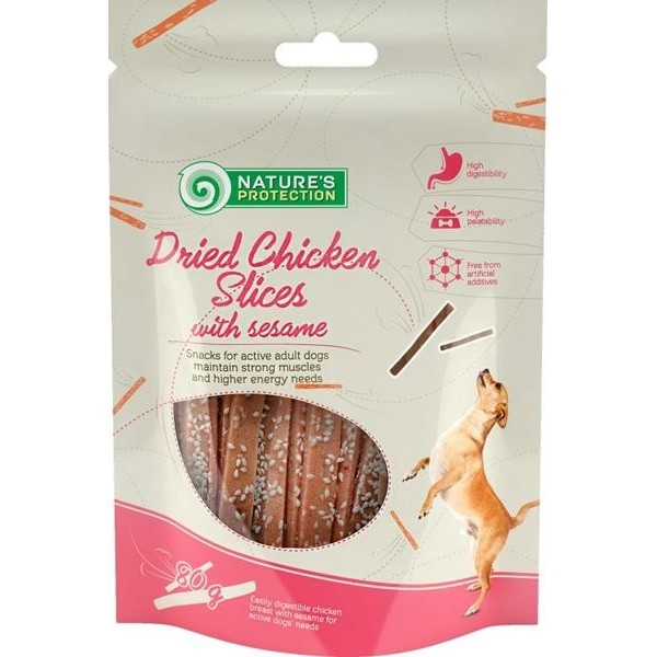 NP Dog Snack Dried Chicken Slices with Sesame 80 g