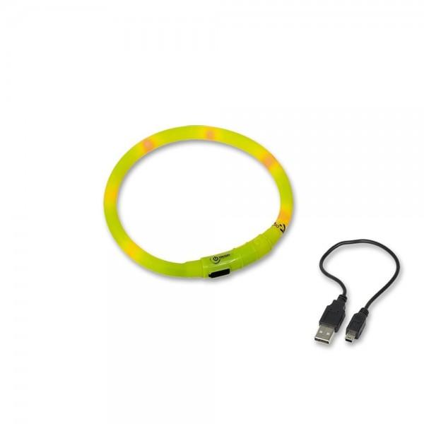 Obojek plast svítící - dobíjení USB Nobby 70 cm