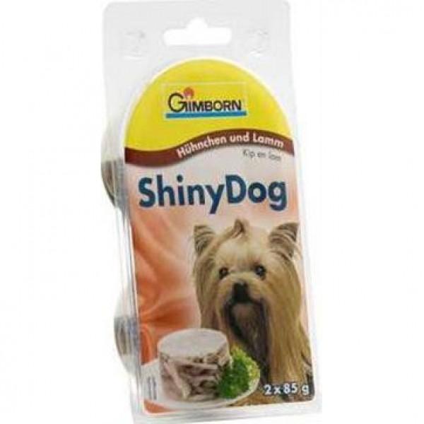 Gimborn Shiny dog konz. - kuře + jehně 2 x 85 g