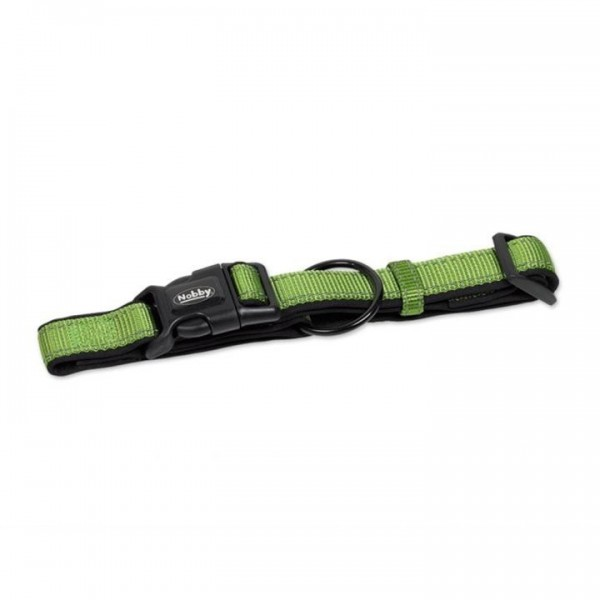 Obojek neopren Classic reflect soft - zelený Nobby 2,5 x 30-45 c