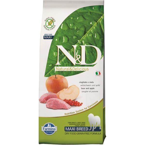 N&D Grain Free Dog Adult Maxi Boar & Apple 12 kg