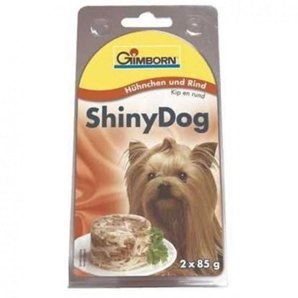 Gimborn Shiny dog konz. - kuře, hovězí 2 x 85 g