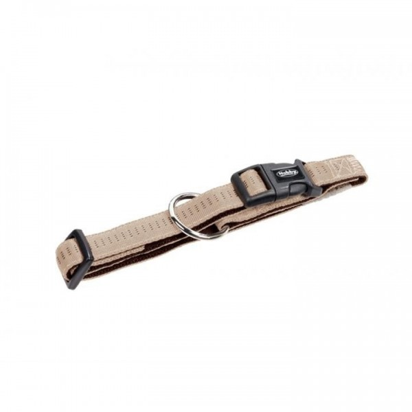 Obojek nylon soft Grip - béžový Nobby 2,5 x 40-55 cm