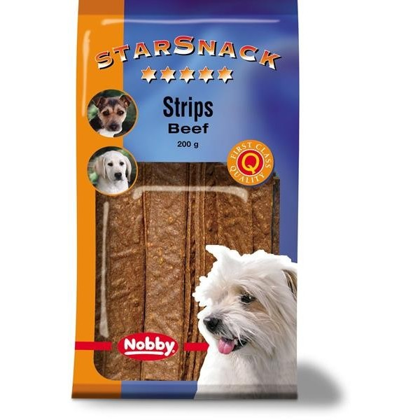 Nobby pamlsek - StarSnack Strips Beef 20 ks