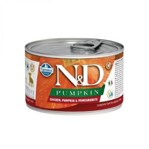 Levně N&D Pumpkin Puppy Chicken & Pomegranate Mini 140 g