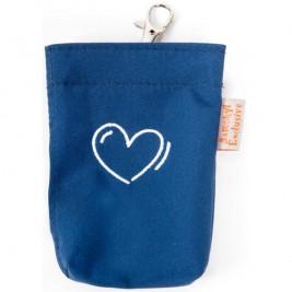Kapsa na pytlíky suchý zip výšivka srdce modrá