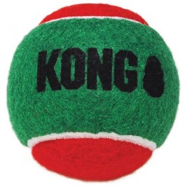Hračka tenis vánoč. Míček 3ks M Kong