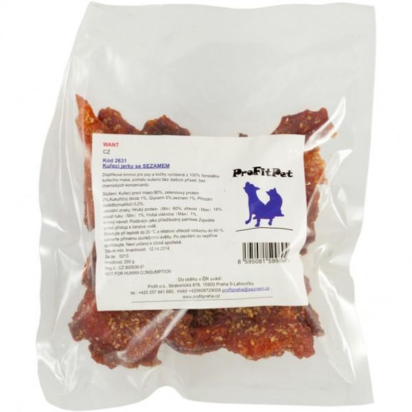Want pamlsek - jerky kuřecí se sezamem 250 g